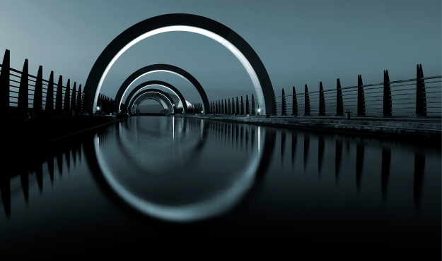 The Falkirk Wheel by Kanneth Barker; used under a Creative Commons license