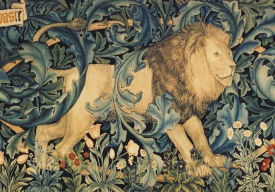 tapestry-lion